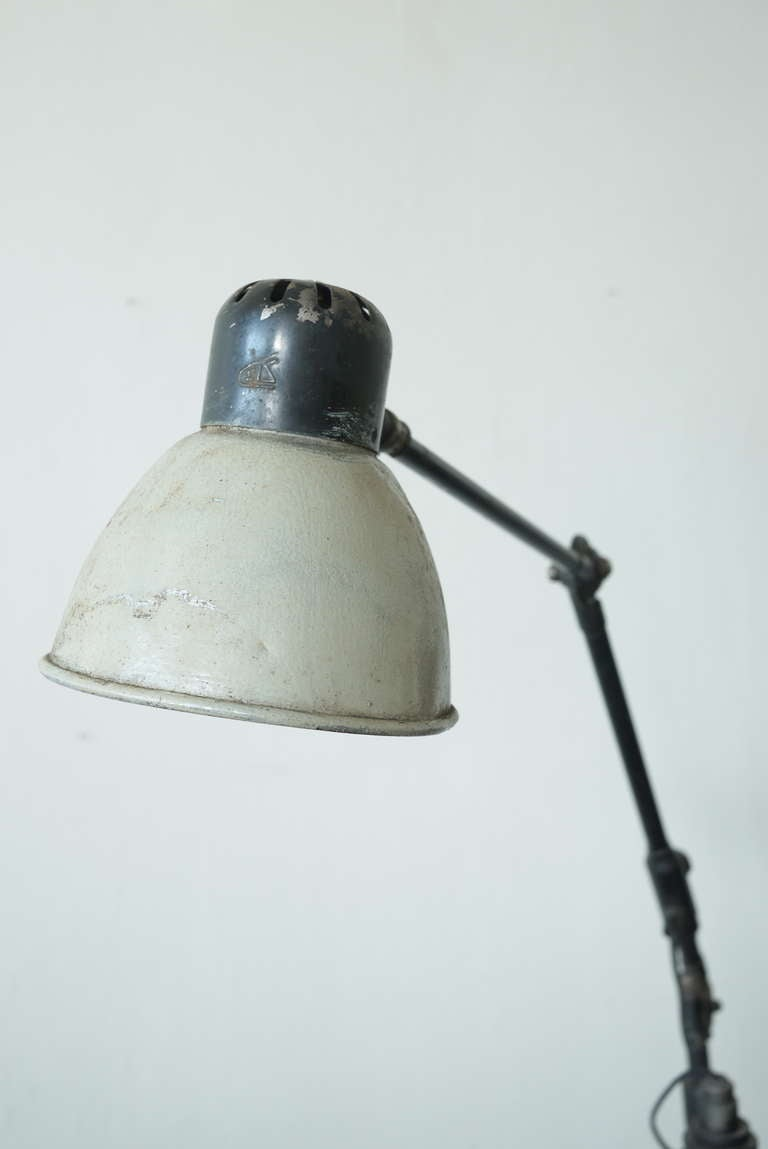 American Industrial Floor Lamp For Sale
