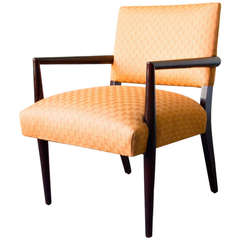 Ebonized Wood Armchair