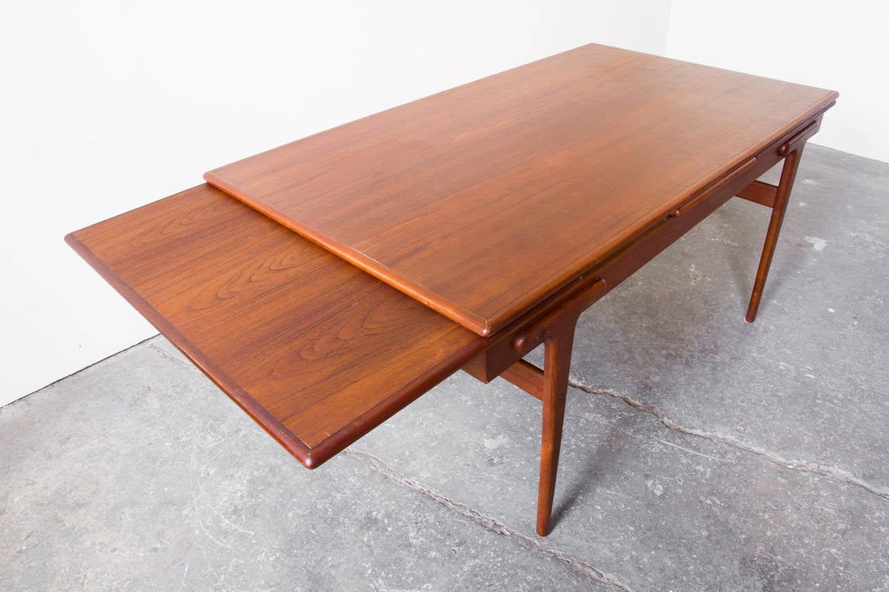 Danish Teak Extension Dining Table For Sale At 1stdibs