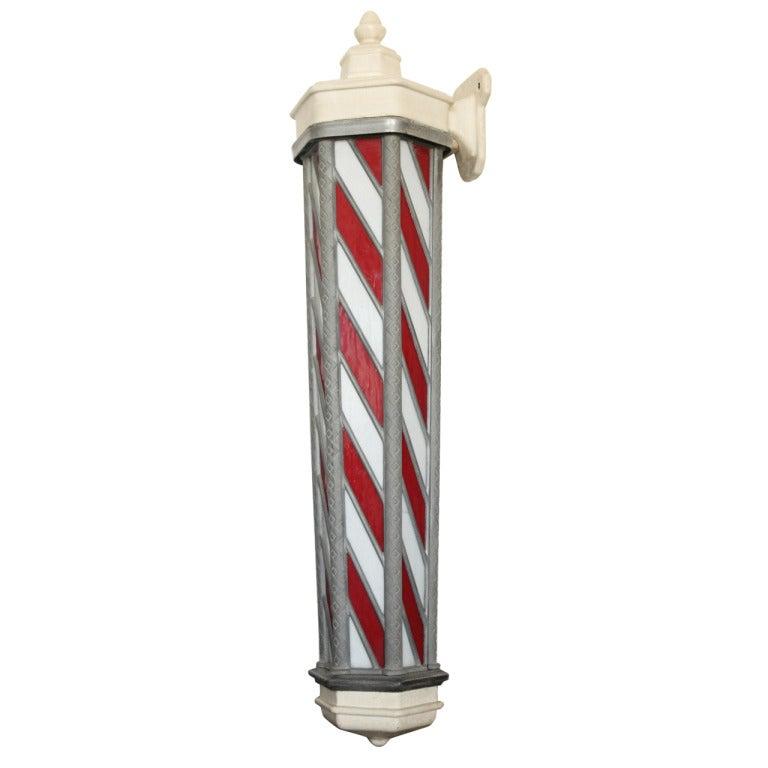 Antique Barber Pole Drawing Antique barber pole