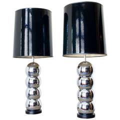 Laurel Chrome Ball Lamps