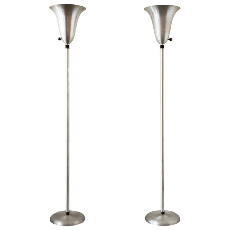 Russel wright aluminum floor lamp set at 1stdibs russel wright aluminum floor lamp set for sale aloadofball Image collections