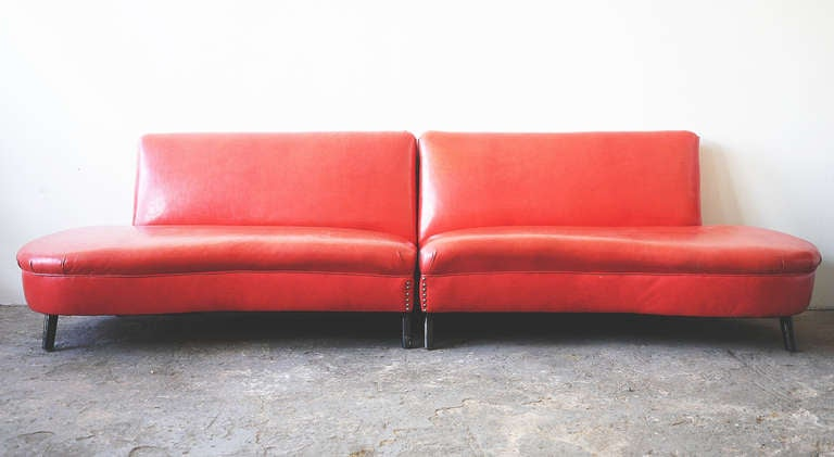 Modern Vinyl Couch at 1stdibs : RedCouchl from www.1stdibs.com size 768 x 421 jpeg 29kB