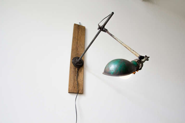 Industrial O.C. White Task Lamp For Sale