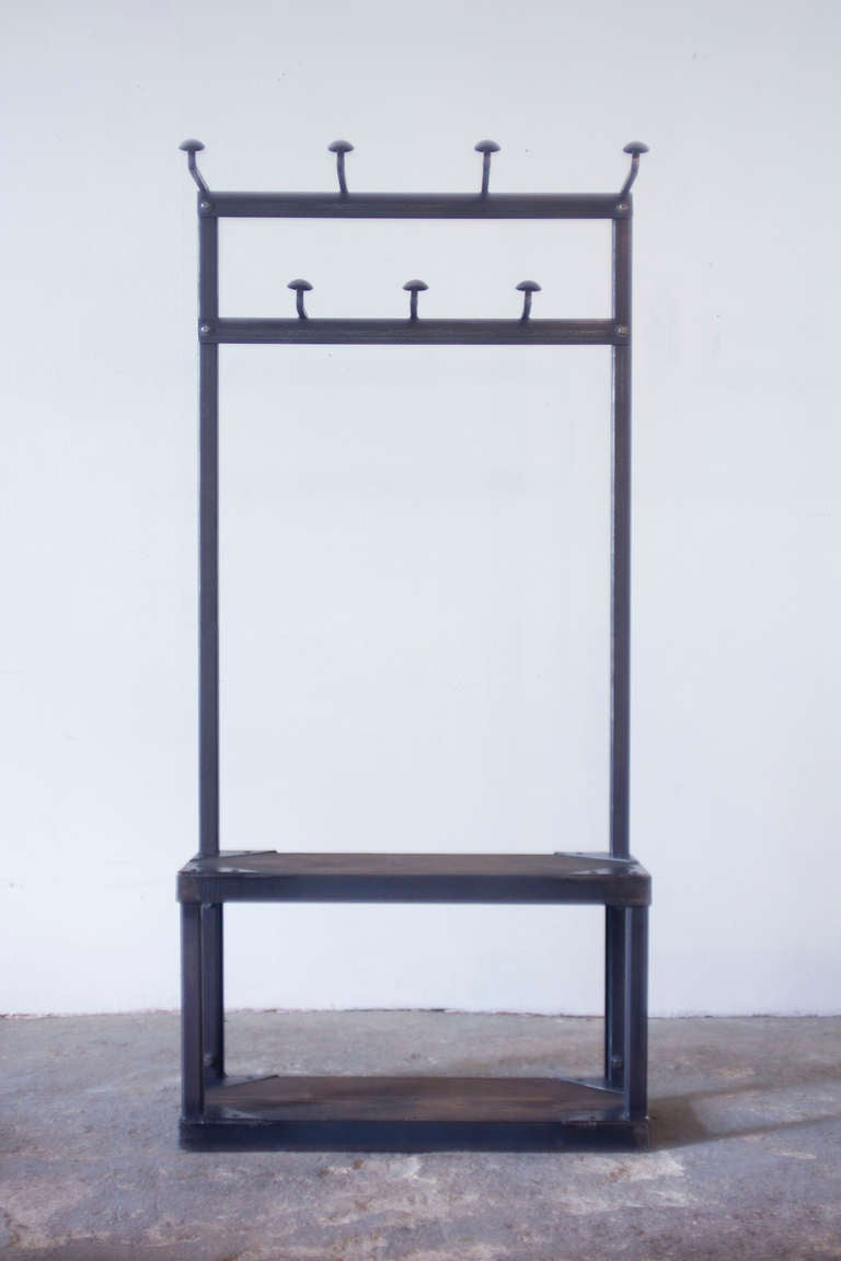 Steel Coat Rack Bench At 1stdibs