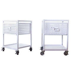 Industrial Perforated Side Tables