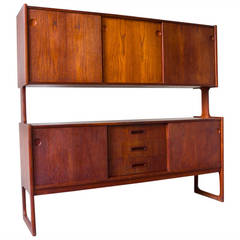 Danish Teak Two-Tier Sideboard