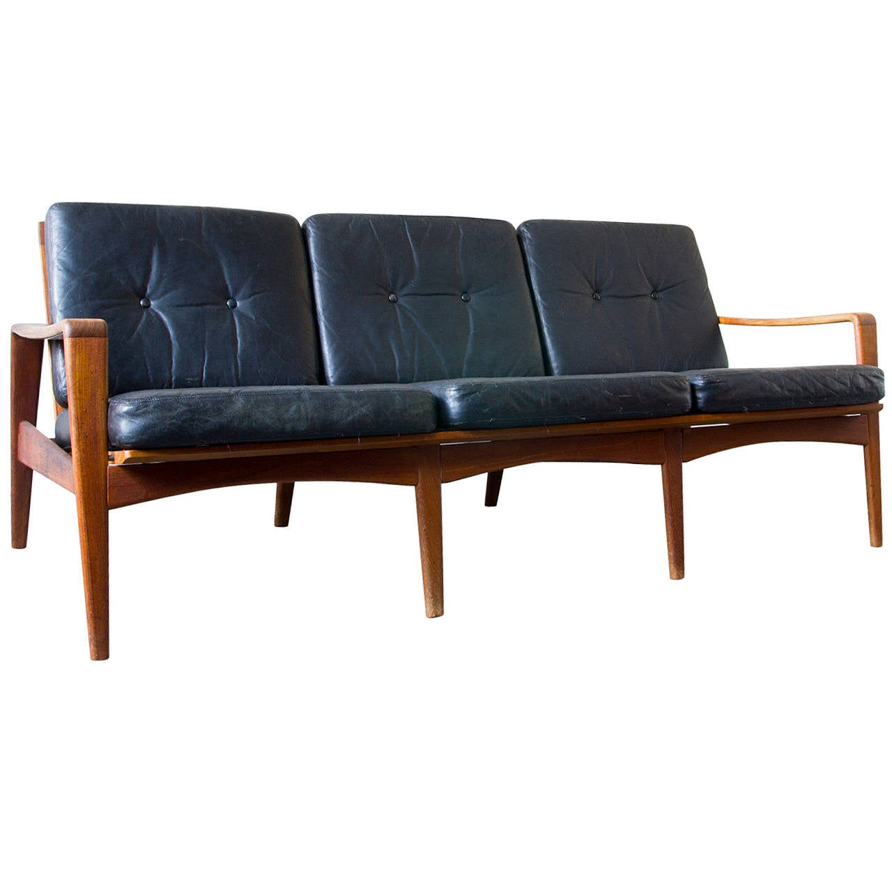 arne wahl iversen komfort sofa at 1stdibs. Black Bedroom Furniture Sets. Home Design Ideas