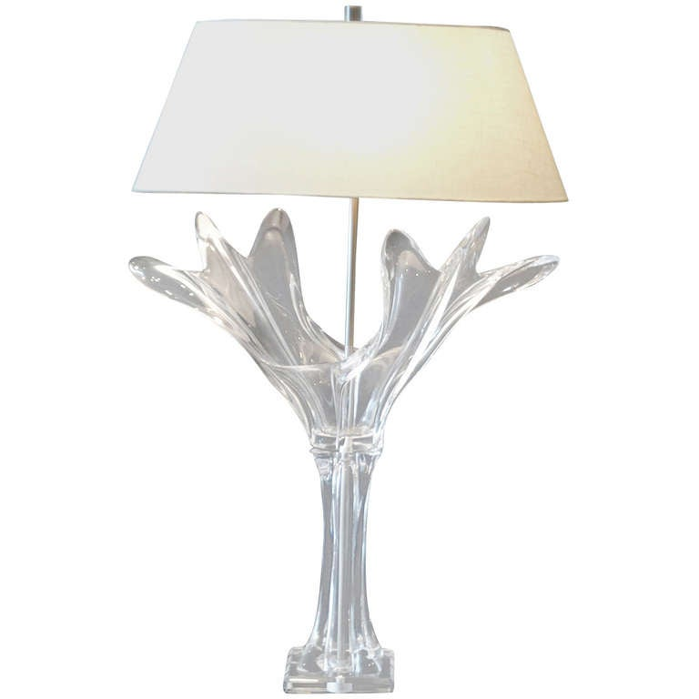 French Crystal Art Verrier Lamp