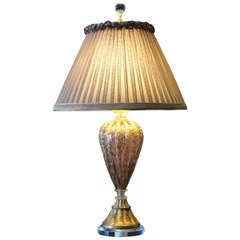 Gorgeous Venetian Murano Purple Glass  Lamp