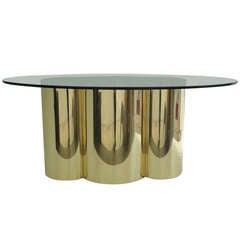 Mastercraft Polished Brass Quatrefoil Dining Table