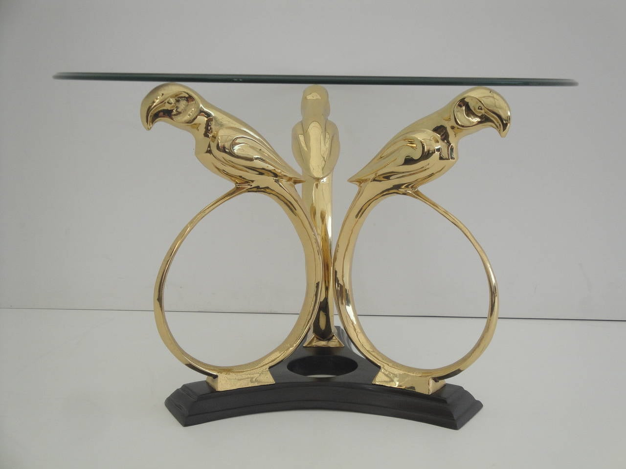 Brass Parrot Coffee Or End Table For Sale At 1stdibs