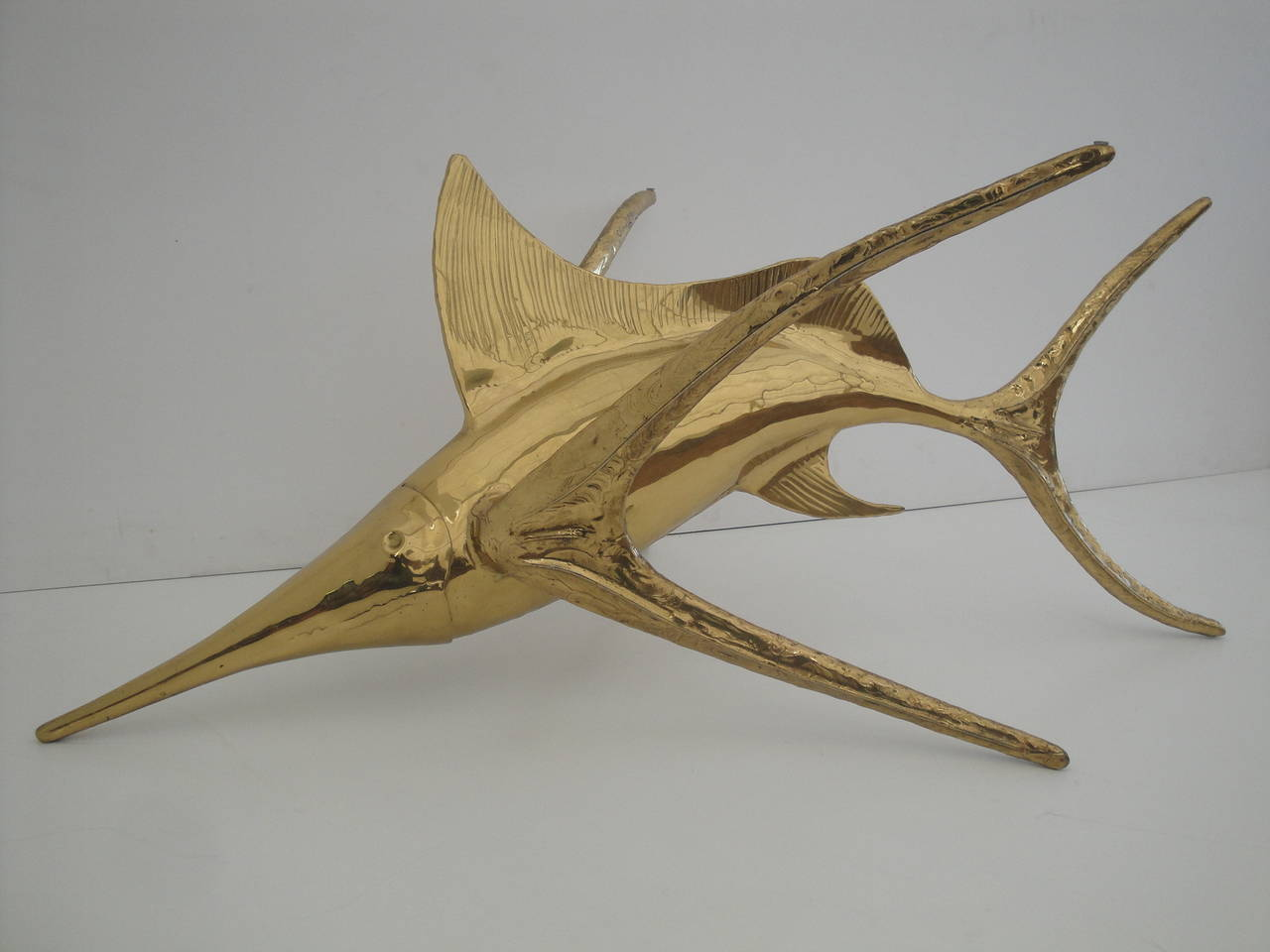 Alain Chervet Brass Dolphin Coffee Table Base For Sale At 1stdibs