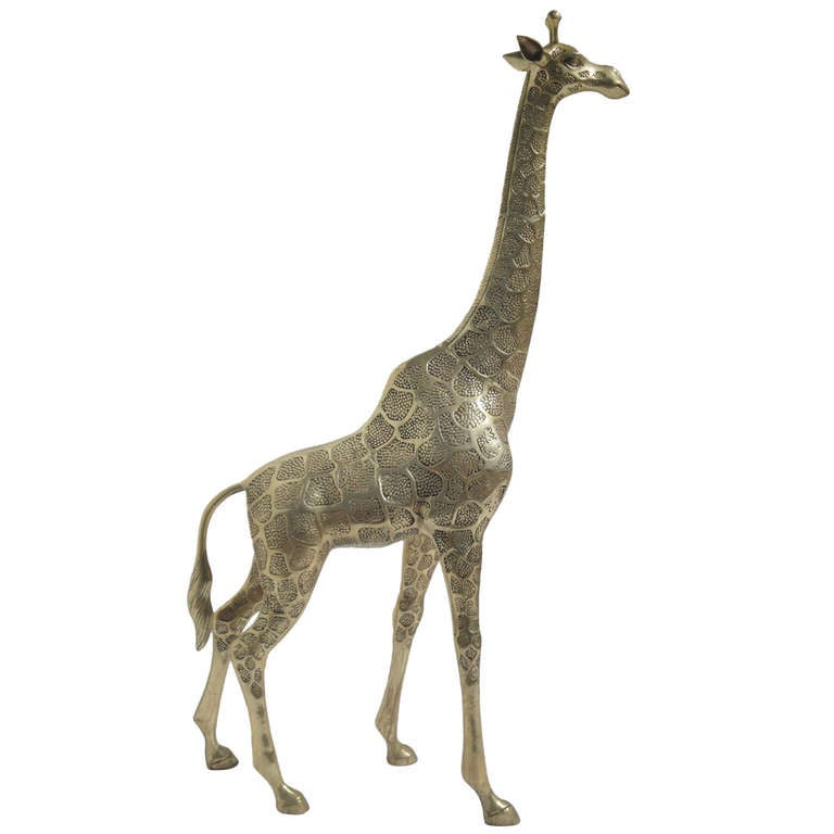 Vintage Brass Giraffe Sculpture At 1stdibs