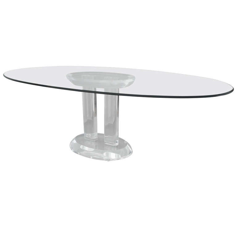 Charles Hollis Jones Lucite Dining Table - Signed, Dated and Numbered