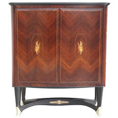 Rosewood Bar Cabinet Style of Paolo Buffa