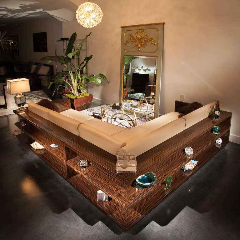 Gorgeous Sofa Sectional Of Macassar Ebony With Wrap Around
