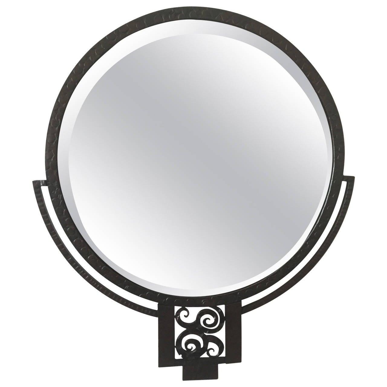 Edgar Brandt Wrought Iron Mirror