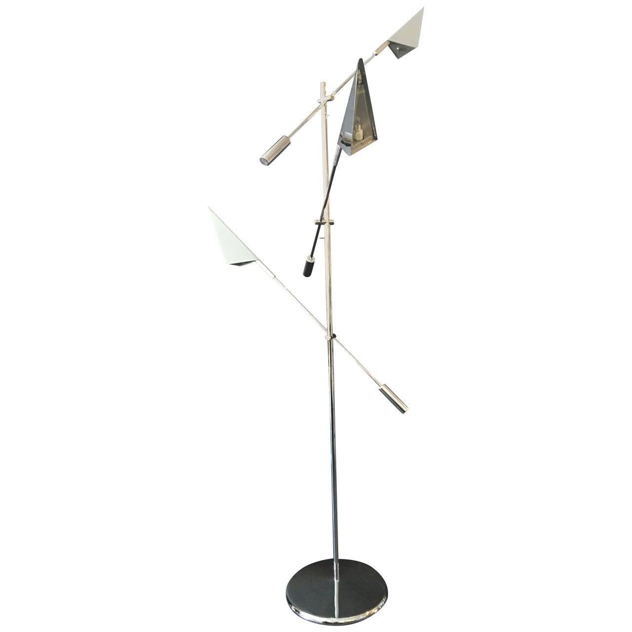 Chrome Floor Lamp by Harry Allen for Kovacs Lighting For Sale