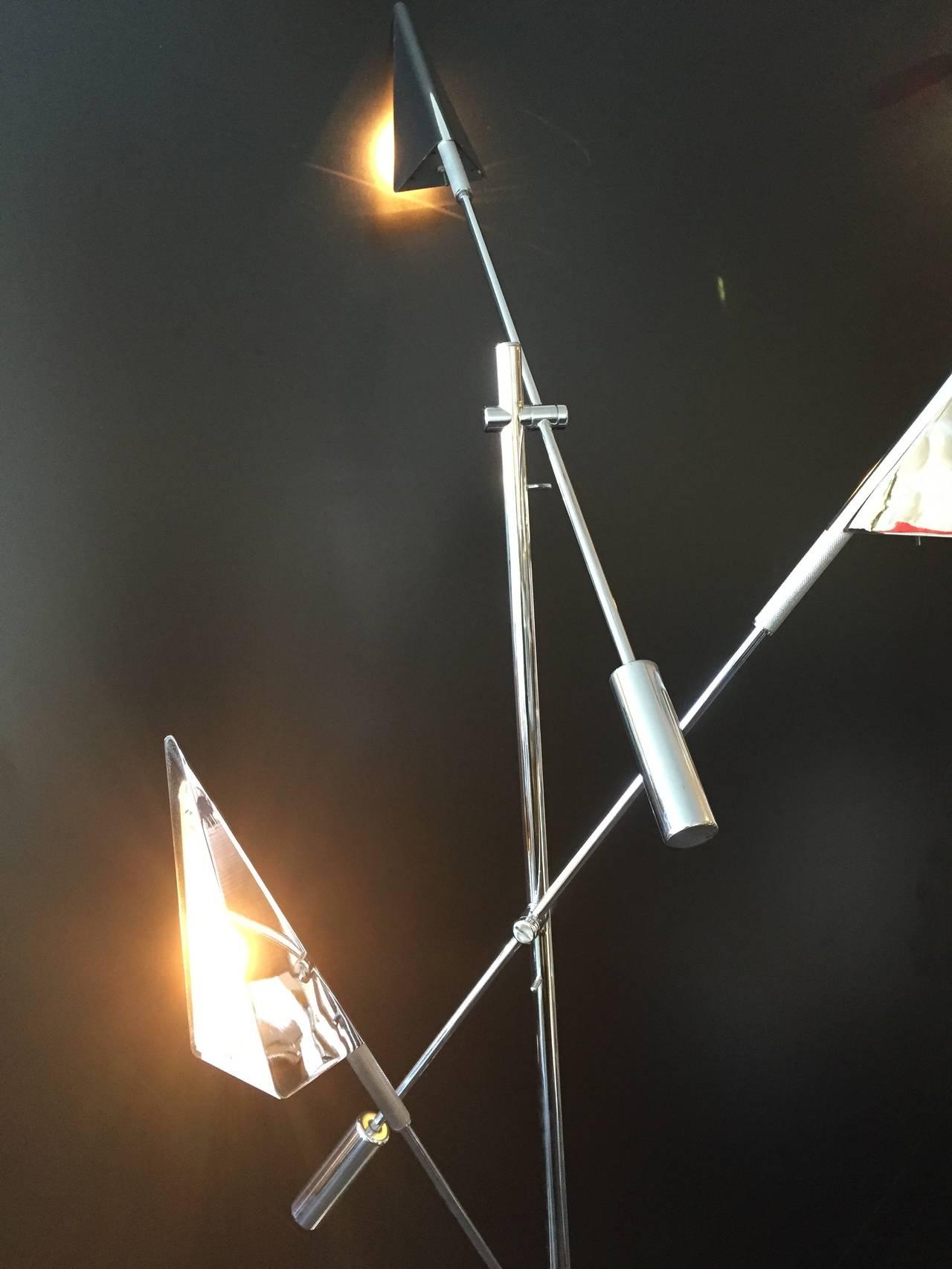 American Chrome Floor Lamp by Harry Allen for Kovacs Lighting For Sale