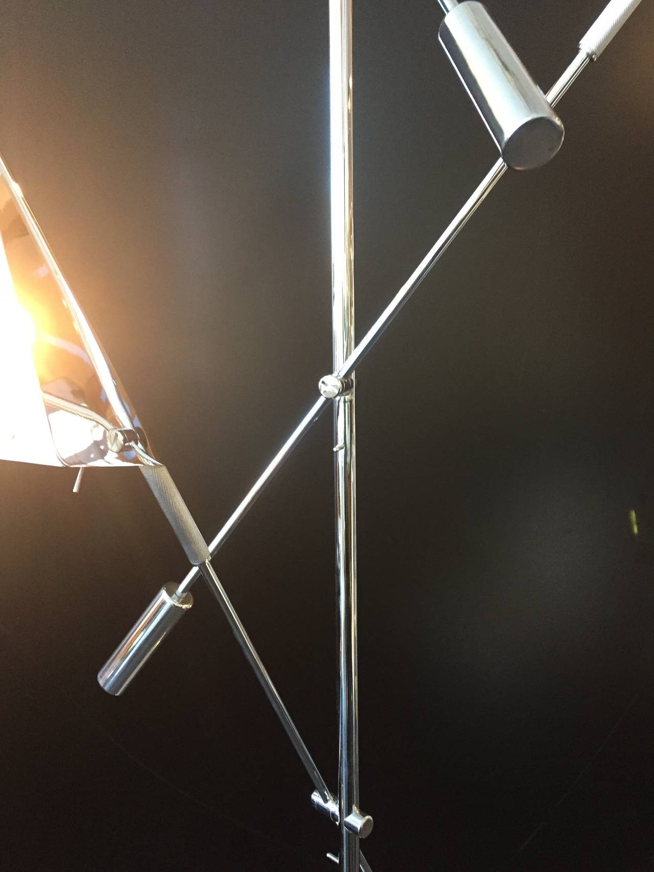 Chrome Floor Lamp by Harry Allen for Kovacs Lighting In Excellent Condition For Sale In North Hollywood, CA