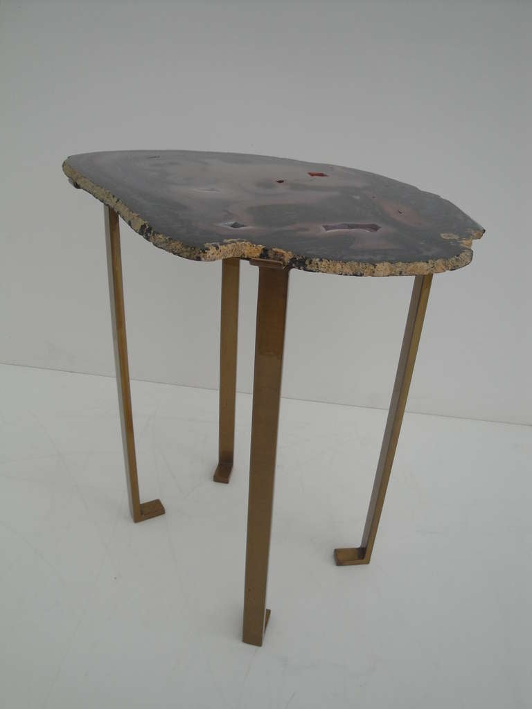 Agate Side End Table At 1stdibs