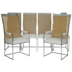 Set of 6 Milo Baughman Modern Dining Chairs