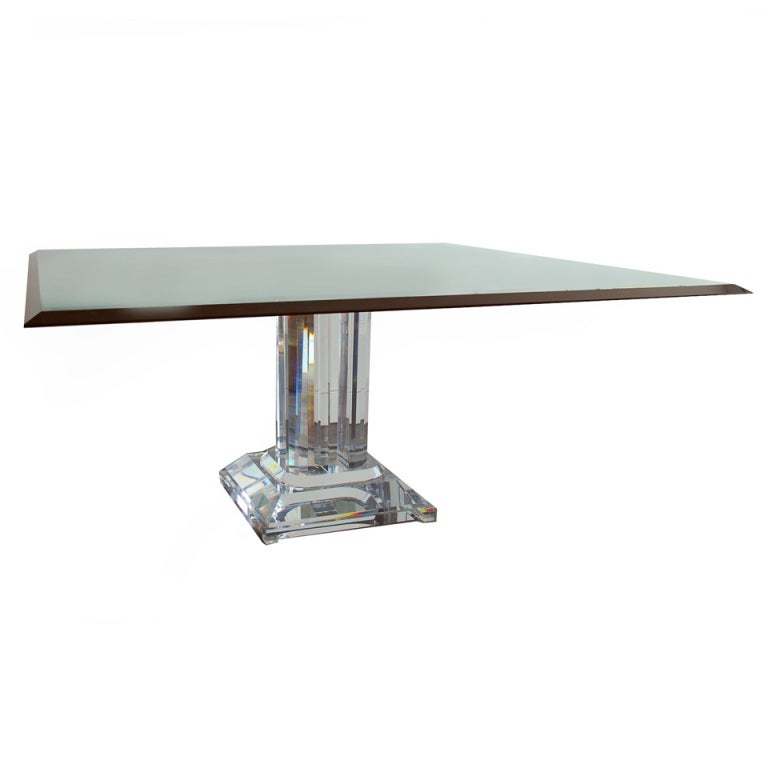 Jeffrey Bigelow Lucite Dining Table Base
