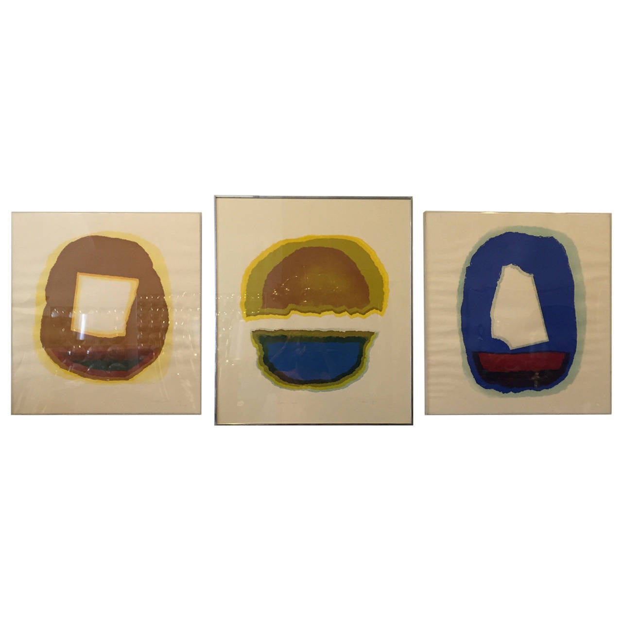 Set of Three Abstract Lithographs by Hirss