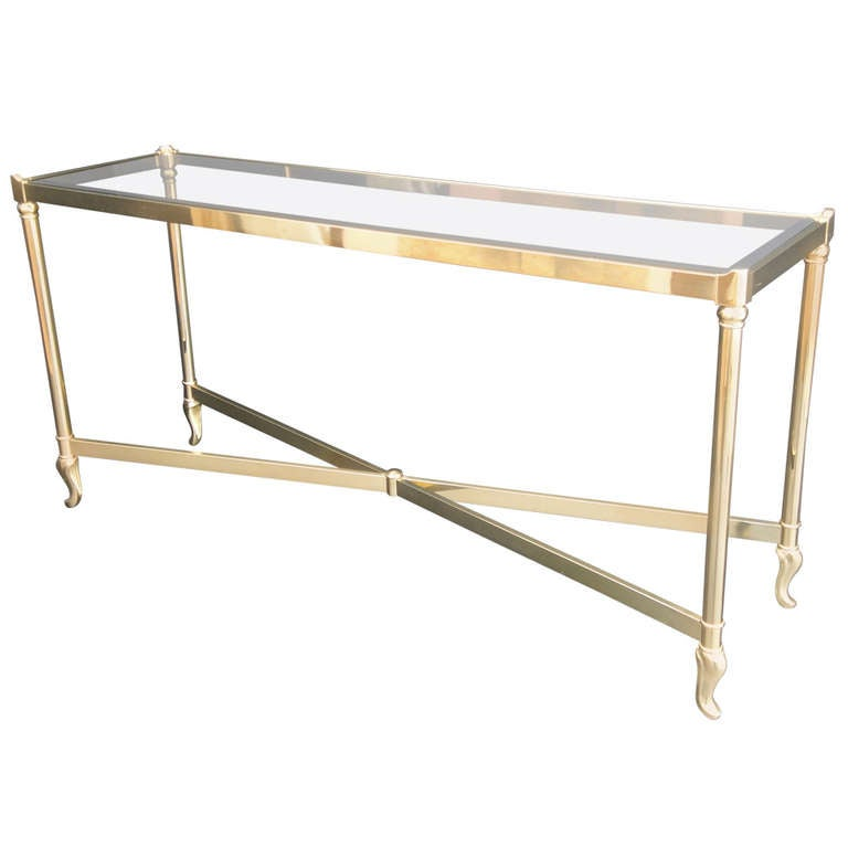 la barge brass console sofa table at 1stdibs. Black Bedroom Furniture Sets. Home Design Ideas