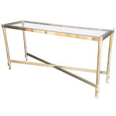 La Barge Brass Console / Sofa Table