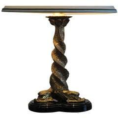 Parcel Gilt Dolphin Lamp