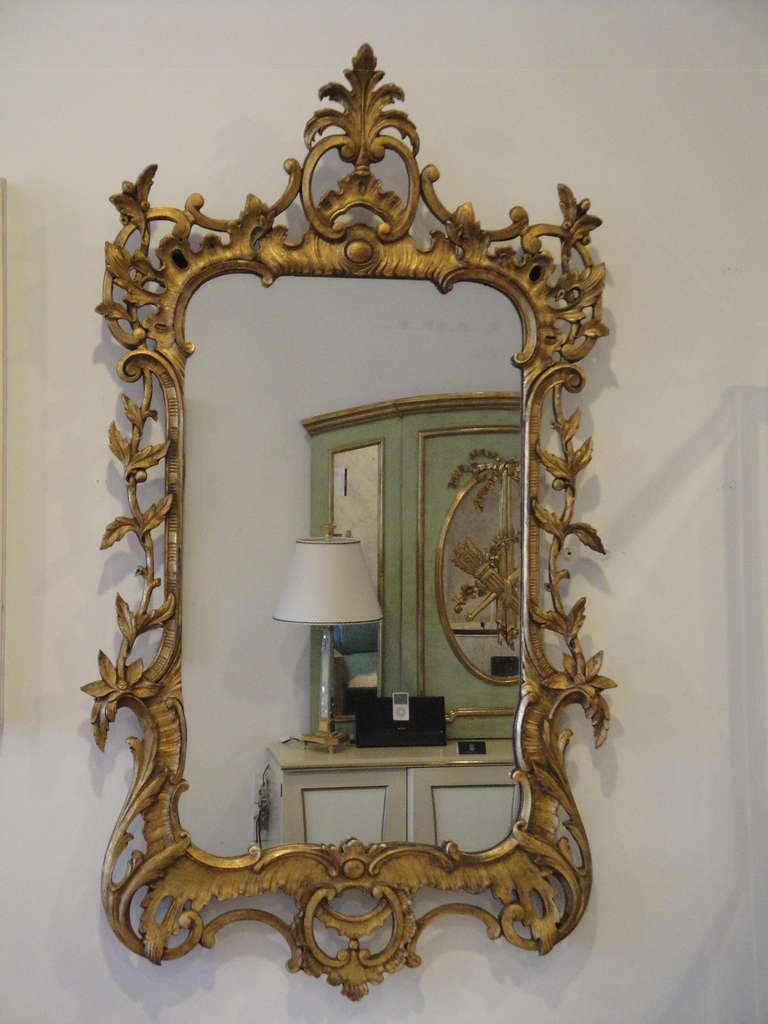 gorgeous rococo style gold leaf mirror frame at 1stdibs