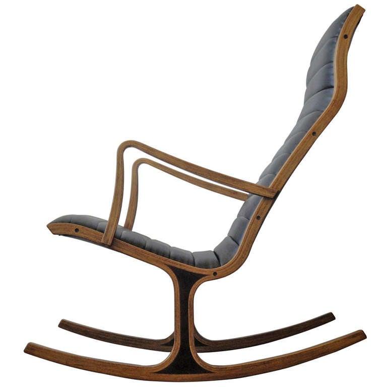 Heron Rocking Chair By Mitsumasa Sugasawa For Tendo Mokko