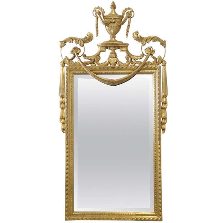 Hollywood Regency Gold Leaf Italian La Barge Mirror