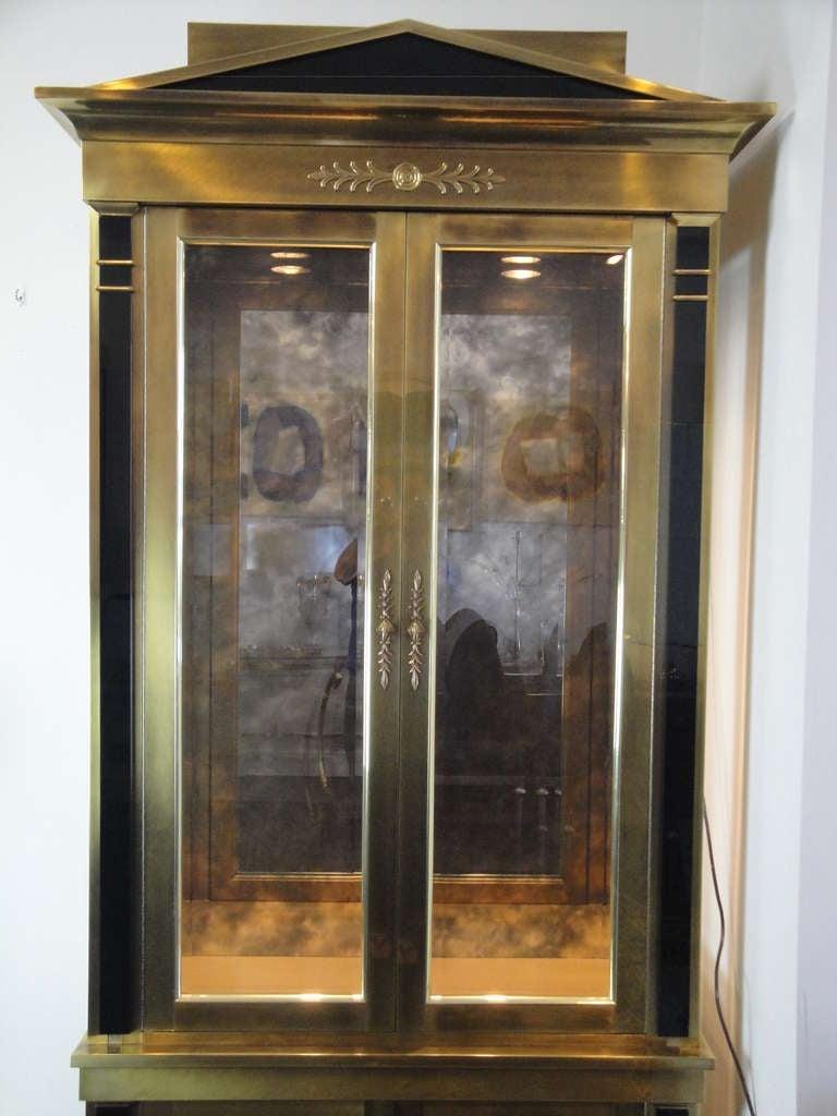 stunning mastercraft brass vitrine cabinet for sale at 1stdibs