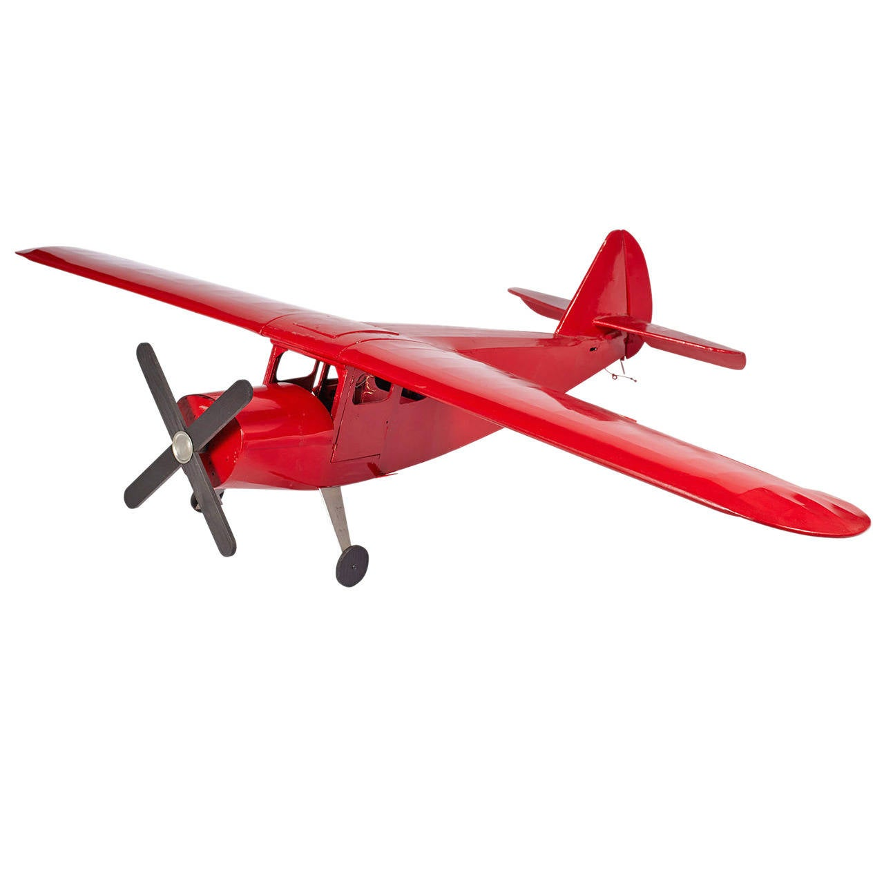 Large-Scale Red Airplane
