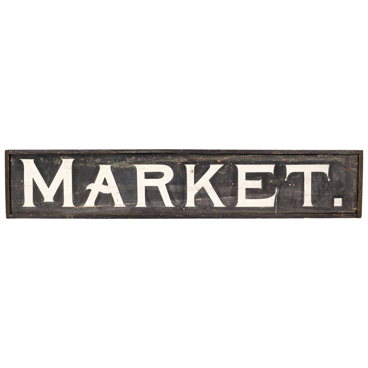 large scale vintage quot market quot sign at 1stdibs