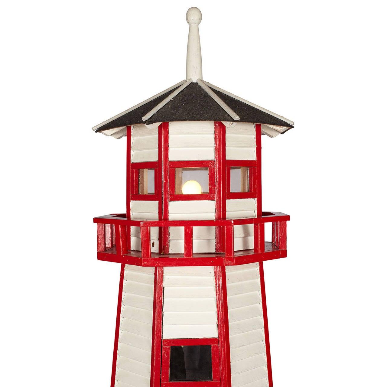 Cottage lighthouse lamp 3 colors - Large Folk Art Lighthouse Floor Lamp 3