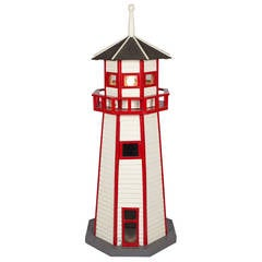 Large Folk Art Lighthouse Floor Lamp