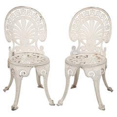 Pair of Vintage Metal Garden Chairs