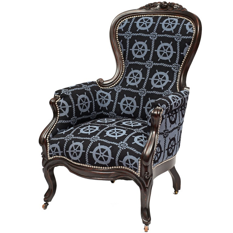 19th c. Victorian Captain's Lounge Chair at 1stdibs