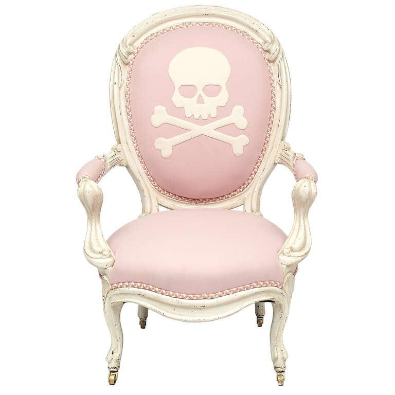 19th C Victorian Balloon Back Skull Chair At 1stdibs