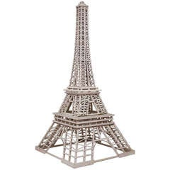 Large Folk Art Model Eiffel Tower