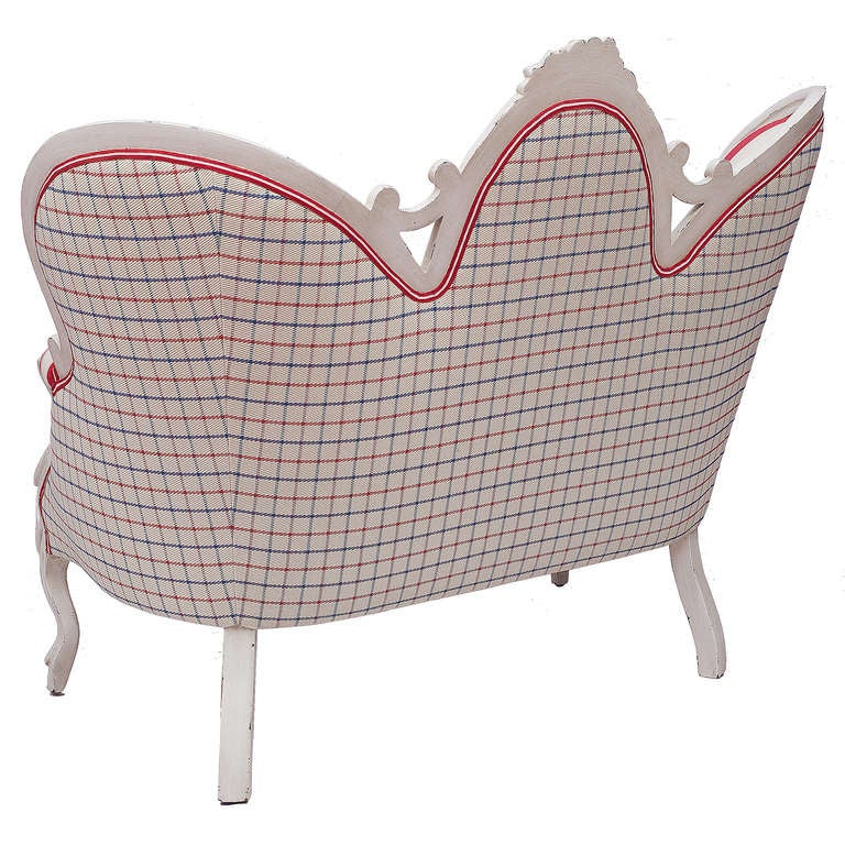 Victorian Anchor and Stripe Settee 3