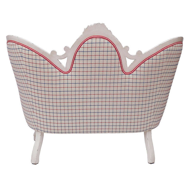 Victorian Anchor and Stripe Settee 4