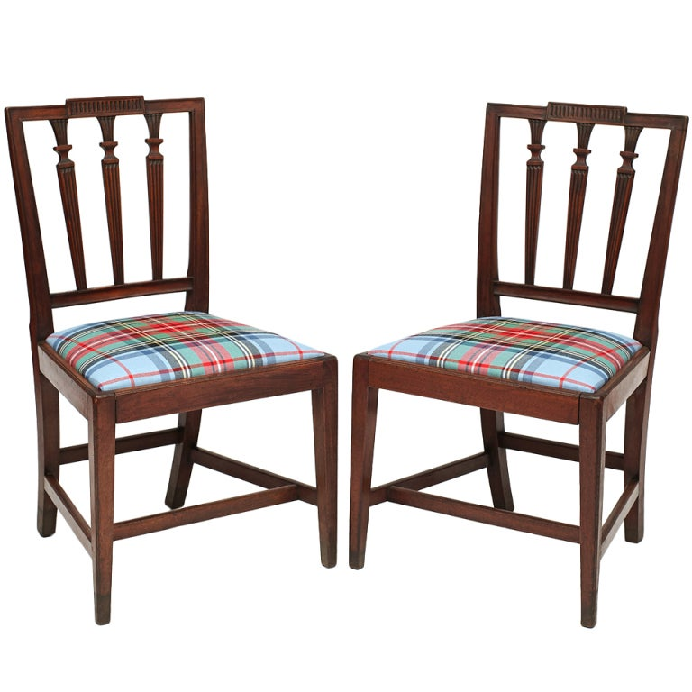 Pair of American Walnut Federal Side Chairs