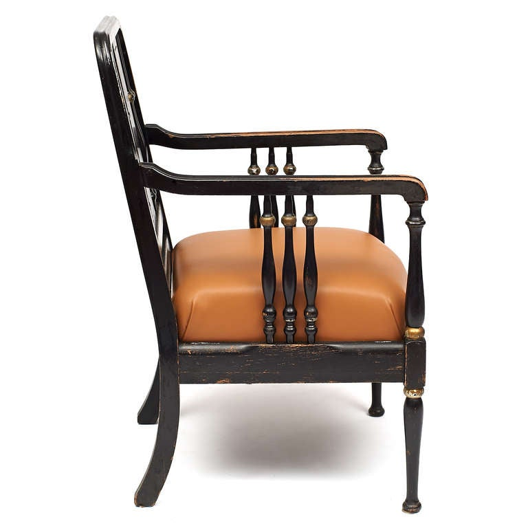 Edwardian style bankers chair for sale at 1stdibs