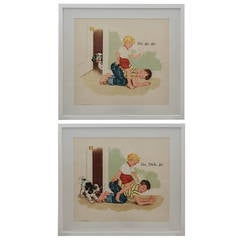 "Pair of ""Sally Dick and Jane"" Prints"