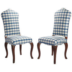 """Pair of 19th Century English """"Queen Anne"""" Style Chairs"""